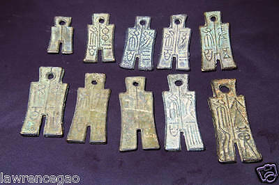 collection of Chinese early ancient old market currency copper coins 10 PCS