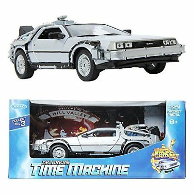 WELLY 1:24 Back To The Future II Delorean Time Machine Die-cast Metla Toy