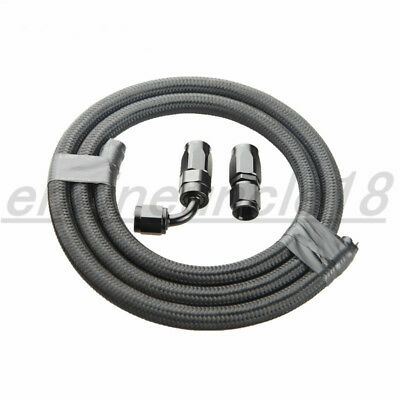 AN10 Swivel Hose End Fitting+Nylon Cover Braided Oil Fuel Gas Line Hose 1M