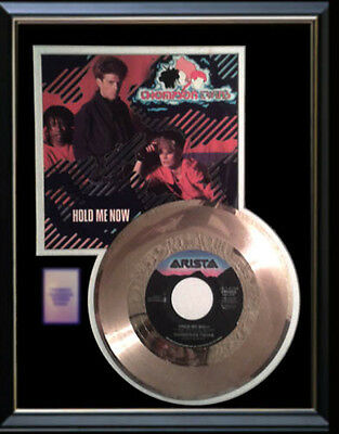 Thompson Twins Hold Me Now Rare Gold Record Disc & 45 Rpm Sleeve