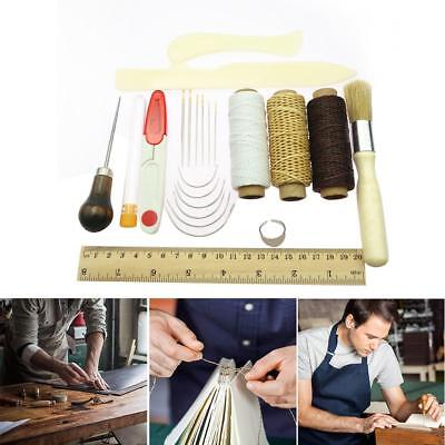 23Pcs Bookbinding Kit Starter Tools Set Bone Folder Paper Ruler Sewing Supplies