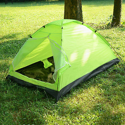 Waterproof 2 People Automatic Instant Pop Up Tent Green Camping Hiking Tent Gift