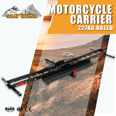 Motorcycle Carrier Rack 227KG For Car Rear 2 inch Towbar Hitch Mount Steel
