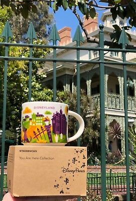 "Disneyland Starbucks HAUNTED MANSION ""You Are Here"" MUG (NEW)"
