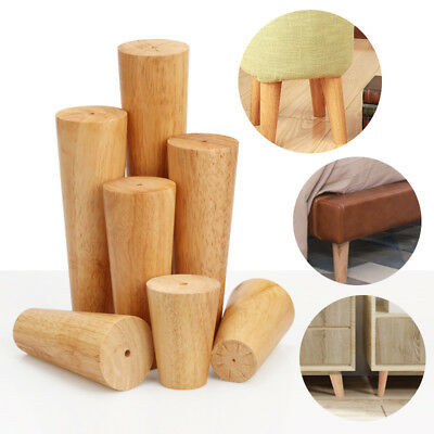 1/4pcs Wooden Furniture Legs/Feet Angled/Straight For Sofa Table Chair Footstool