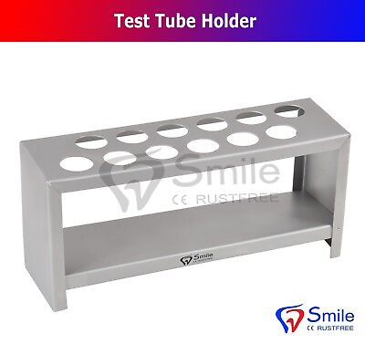 Stainless Steel Test Tube Stand Rack Of 10 Tubes - Lab Supplies Science Smile UK