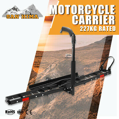 Motorcycle Carrier Rack For Car Rear 2 inch Towbar Hitch Mount Padded Arm