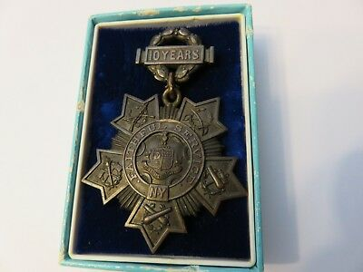 NYS ORIGINAL MILITARY MEDAL FOR TEN YEARS of FAITHFUL SERVICE-TIFFANY&CO. #5372