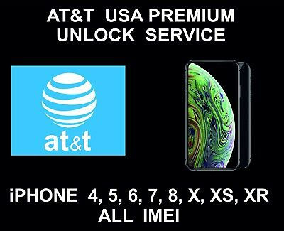 AT&T USA Premium Unlock: All IMEI Supported: iPhone 4, 5, 6, SE, 7, 8, X, XS, XR