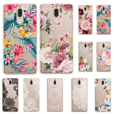 For Huawei Mate 20 Pro/P20 Lite Slim Soft Silicone Clear Painted TPU Case Cover
