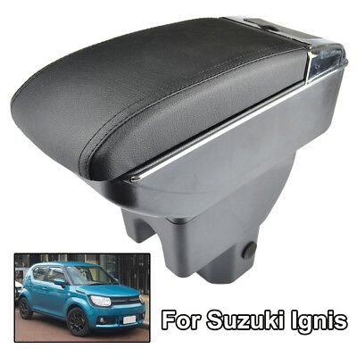 For Suzuki Ignis 2016 - 2018 Storage Box Armrest Car Arm Rest Dual Layer Styling
