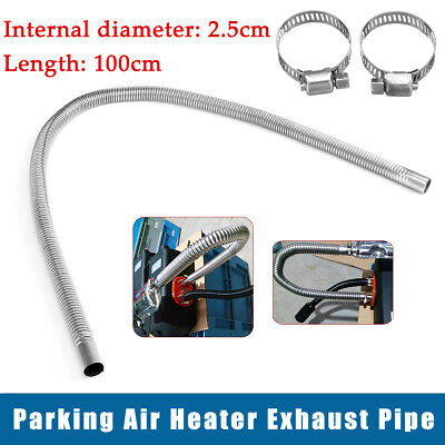 1200mm Metal Steel Exhaust Pipe Car Parking Air Heater Tank Diesel Gas Vent Hose