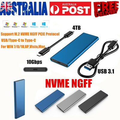 10Gbps NVME NGFF M.2 SSD Hard Disk Case Box Enclosure USB 3.1 Type-c To PCI-E