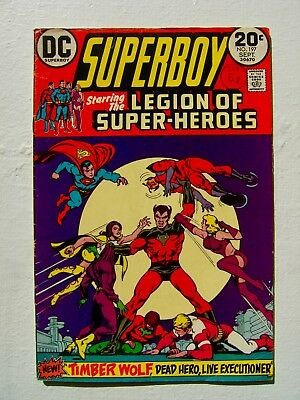 SUPERBOY Starring The Legion Of Superheroes no.197 Bronze Age DC Comic