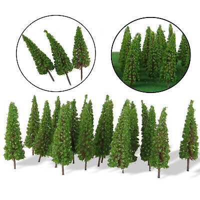 50 X Trees Model Train Garden Railroad Wargame Diorama Park Scenery Layout HO OO