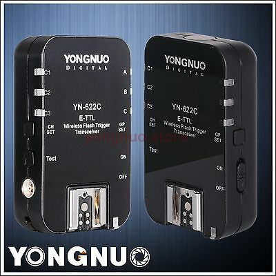 Yongnuo YN-622C Wireless TTL Flash Trigger for Canon 7D 7DII 5DII 5DIII 1DIII 5D