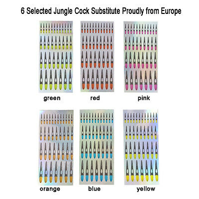 Easy Available Super Realistic Fly Tying Jungle Cock Substitute Fly Tying