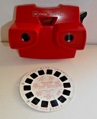 VINTAGE GAF VIEWMASTER VIEWER ORIGINAL RED 1970's 80's MODEL J RARE RETRO  C424