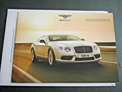 Bentley Continental Gt V8S - 2014 Original Uk Brochure W12 & Convertible