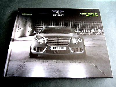 Bentley Continental Gt Gtc V8 - 2013 Uk Hardback Brochure 2014