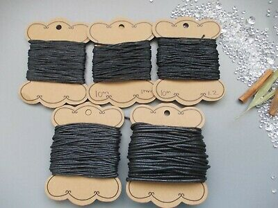 BLACK COTTON CORD, 0.7mm,1mm, 1.2mm, 1.5mm, 2mm CRAFT STRING THREAD STRINGING