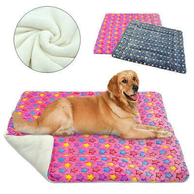Soft Fleece Winter Warm Cat Dog Bed Mat Cushion Blanket for Small To XLarge Dogs