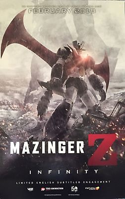 Mazinger Z INFINITY 11 x 17 Poster 2018 Movie Viz Toei Animation Go Nagai EVENT