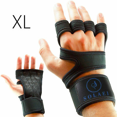 Grip Weight Lifting Pads Fitness Cross Training Wrist Support Workout Gym Gloves
