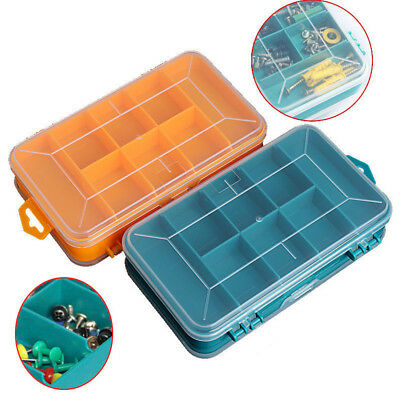 2-Side Storage Drawer 13 Compartments PP Tool Box Tool Organiser Screw Case AU