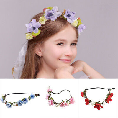 Bohemia Flower Hairband Baby Kids Floral Crown Headband Wedding-Girls Headwear
