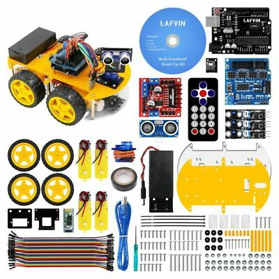 Smart Robot Car Kit with Ultrasonic Module UNO R3 Bluetoot Remote Arduino DIY