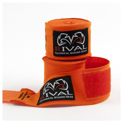 Rival Mexican Hand Wraps 4.5M Orange Stretchy Handwraps Classic Hand Protection