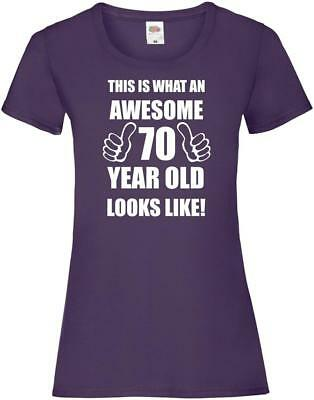 70th 70 Years Old Seventieth Birthday Presents Womens Funny Awesome T-Shirt