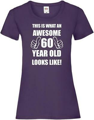 60th 60 Years Old Sixtieth Birthday Presents Womens Funny Awesome T-Shirt