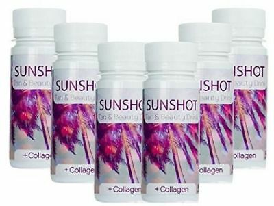 SUN SHOT Sunbed Tanning Accelerator & Beauty Drink Collagen Enhanced Formulation