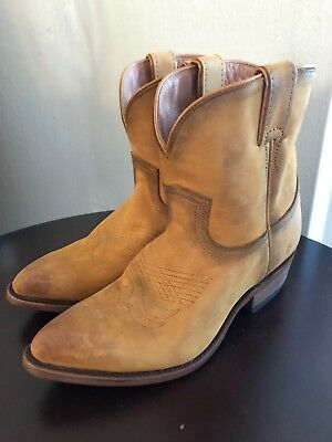 9bb46d8f697 NEW $258 FRYE Western Billy Women Italian Leather Short Boots Cognac ...