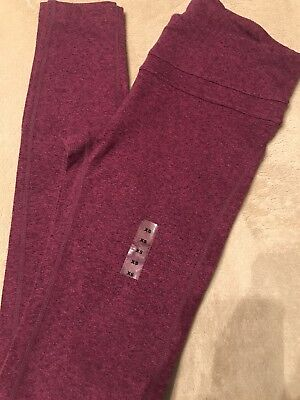 NEW Gap Gapfit gFast Women's Yoga Pants Maroon Leggings Sz XS Stretch Cotton