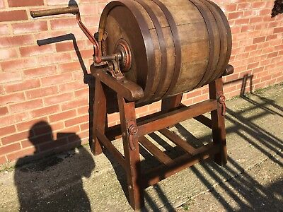 FARM BUTTER CHURN-oak Barrel display, shop, pub, etc Film Prop Antique Dairy