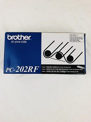 Original Brother Fax Rolls PC-202RF (TWO PACK) - Brand New - New In Box