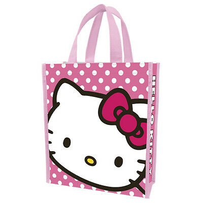 """Hello Kitty Small Shopping Bag Or Tote 10""""x12""""  Vr A75"""