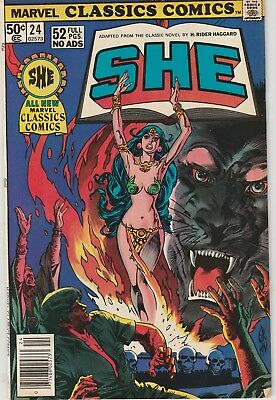Marvel Classics SHE by H. Rider Haggard, full color comic art