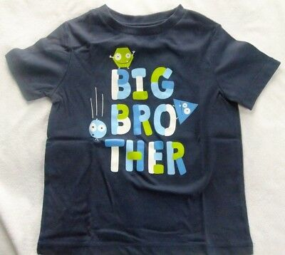 Boys Size 24 Months BIG BROTHER T-Shirt NWT  BLUE Short Sleeves