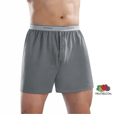 Fruit of the Loom or Hanes Knit Boxers /Famous Brand Packing 3-Pk. (SMALL- 3XL)