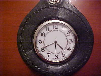 Vintage BP Watch and Black Leather Fob with Belt Loop