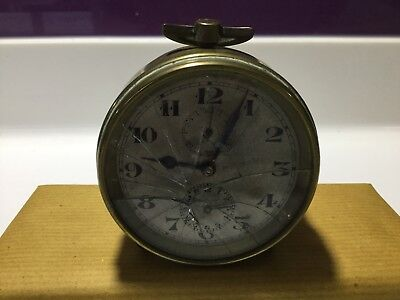 Antique Brass Drum Clock