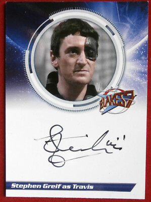 BLAKE'S 7 - STEPHEN GREIF, as Travis - Autograph Card - Unstoppable Cards 2013