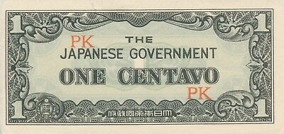 Currency Japan Philippines 1942 WWII Occupation 01 One Centavos Note Circulated