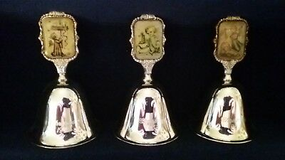 M.j hummel ars edition Silverplated Christmas bell 1981,1982,1983