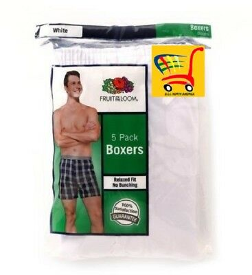 Fruit of the Loom Big Man's White Boxer Shorts 5-Pack