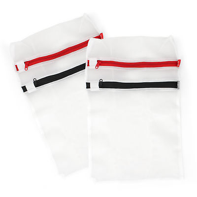 Lot de 2 filets de lavage blanc avec 2 compartiments à linge rouge noir